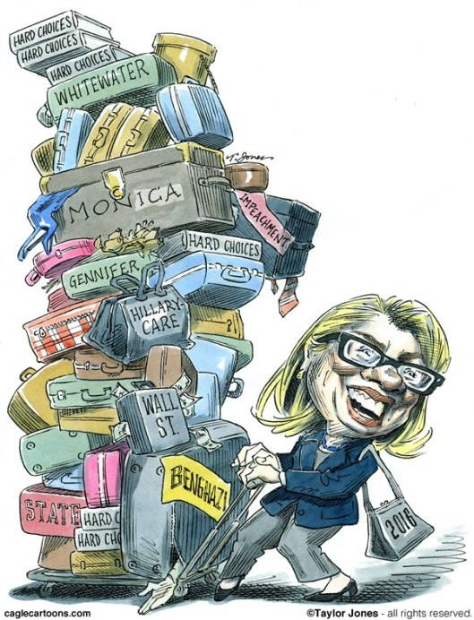 hillary not packing lightly