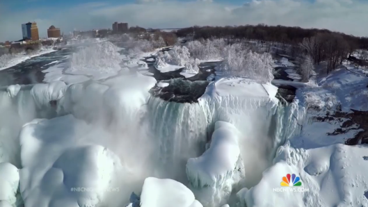 Niagara Fall frozen
