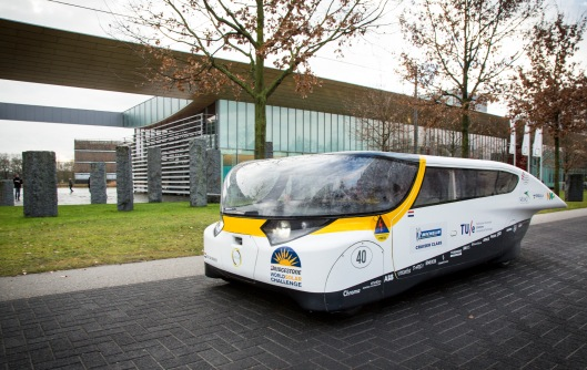 'Stella'  - The solar-powered family car, as designed by the students of the University of Technology Eindhoven Photo Credit: Bart van Overbeeke